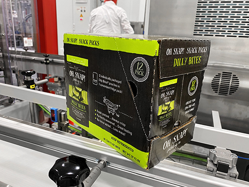 OH SNAP!® Pickling Co. orders third new SOMIC wraparound case packer system