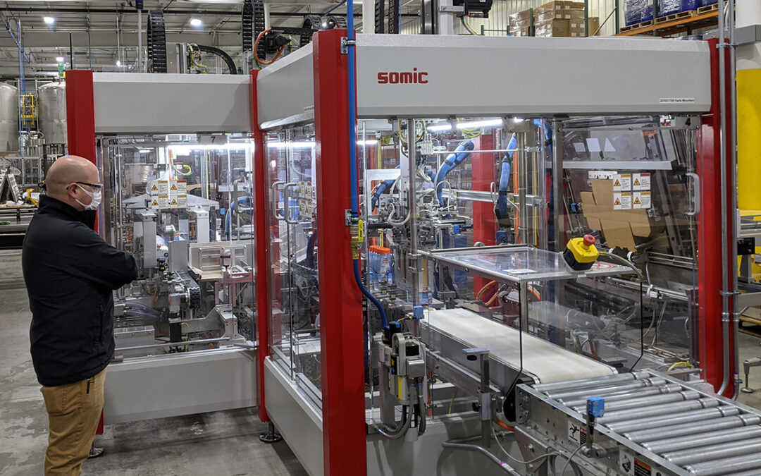 Hartz Mountain opens new production line with SOMIC wraparound case packer system
